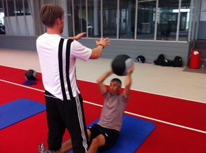 Christian trainiert mit Dynamax